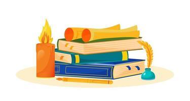 kreative Bücher schreiben vektor