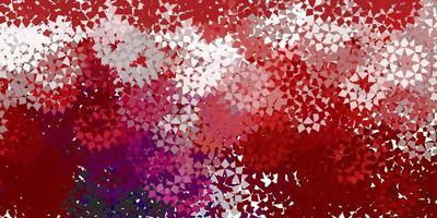 röd konsistens med triangulär stil.