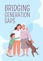 Überbrückung von Generationenlücken Poster vektor