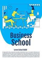 Business School Kursplakat vektor