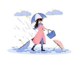 kraftig nederbördskaraktär