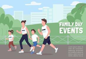 Familientag Ereignisse Poster vektor