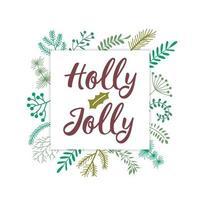 jul bokstäver design med gren dekorationer vektor