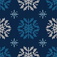 stickat mönster för jul snöflinga vektor