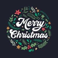 jul bokstäver design med dekorationer