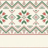 Weihnachten Strickmuster vektor