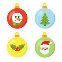 jul bollar uppsättning samling