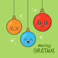 kawaii Weihnachtskugeln