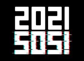 2021 inverterad sos-affisch vektor