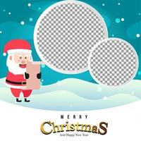 jultomten håller en lista med gåvor med tomma cirklar