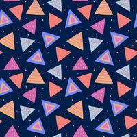 nahtloses geometrisches Muster mit Dreiecken vektor