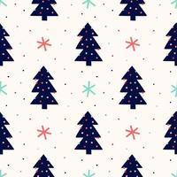 nahtloses Muster des Weihnachtsbaums vektor