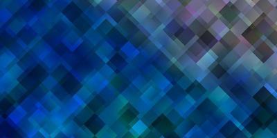 ljusblå layout med linjer, rektanglar.