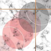 Marmor Textur Design mit goldenen geometrischen Linien vektor