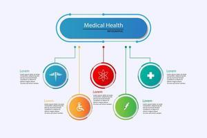 vektor abstrakt hälsovård vetenskap medicinsk ikon koncept bakgrund