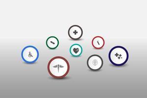 medicinsk hälsovård vetenskap innovation koncept mönster bakgrund