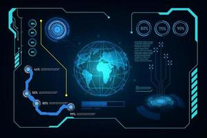 abstrakt futuristisk tech skärmbakgrund