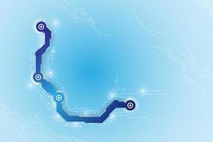 abstraktes technologisches Hintergrundkonzept mit verschiedenen Technologieelementen. Illustrationsvektor