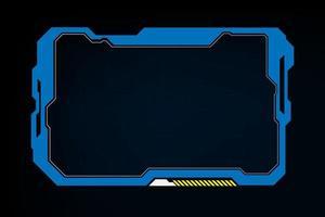 abstrakte Tech Sci Fi Hologramm Rahmen Vorlage Design Hintergrund