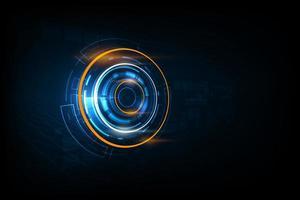 abstrakt futuristisk kretsteknologibakgrund vektor