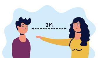 Menschen mit Gesichtsmasken üben soziale Distanzierung