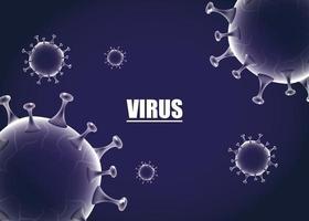 wissenschaftlicher lila Bannerhintergrund des Coronavirus