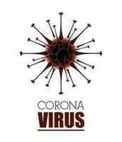 wissenschaftlicher weißer Bannerhintergrund des Coronavirus