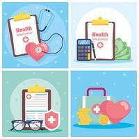 hälsoförsäkring service koncept banner set