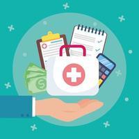 konceptkomposition för sjukförsäkringstjänst vektor