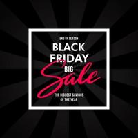 schwarzer Freitag Werbung Burst Banner Design.