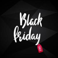 svart fredag reklam polygonal banner design. vektor