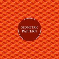 abstraktes 3d orange Würfelmuster