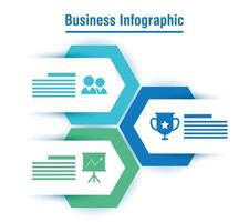 affärs- och företagsinfografi- eller presentationsbanner vektor