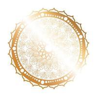 Mandala Goldblumenform Design vektor
