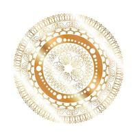 mandala guldblomma formad design vektor