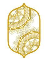 Mandalas im Rahmen Gold Design vektor