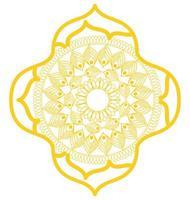 Mandala im Rahmen gelbes Design vektor