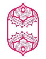 Mandalas im Rahmen rosa Design vektor