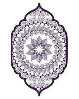 Mandala im Rahmen lila Design vektor