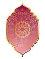 Mandalagold in rosa Rahmengestaltung vektor