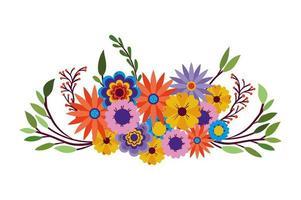 Blumen vieler Farben Symbol auf weißem Hintergrund vektor