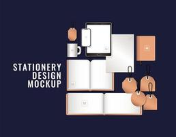 Tablet mit Smartphone und Branding-Mockup-Design