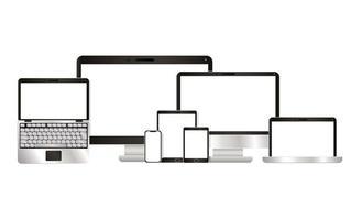 dator bärbar dator tablett och smartphone vektordesigner
