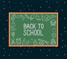 Kreide-Symbolsatz zurück zur Schulbehörde