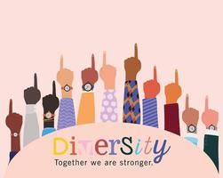 mångfald tillsammans är vi starkare och antal