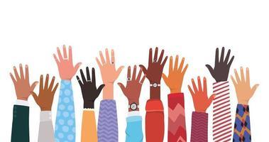 öppna händerna på olika typer av skinn