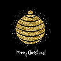 Weihnachtsball mit Glitzereffekt
