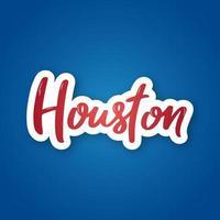 Houston Hand gezeichnete Beschriftung auf Farbverlauf