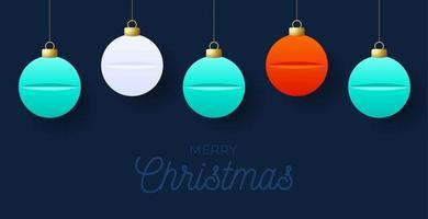 Weihnachts hängende Pille Tablette Ornamente Design vektor