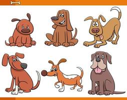 Hunde und Welpen niedliche Tiercharaktere gesetzt